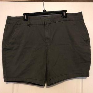 Gray dress shorts